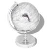vidaXL földgömb alumínium állvánnyal ezüst 42 cm