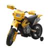 vidaXL Gyerek Elektromos Sárga Motorkerékpár