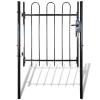vidaXL Hajlított tetejű kerítés kapu 100 x 170 cm