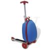 vidaXL Kék Bőrönd Gyerek Troller