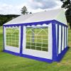 vidaXL kék és fehér PVC kerti pavilon 3 x 4 m