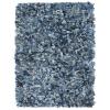 vidaXL kék, farmervászon shaggy szőnyeg 190 x 280 cm