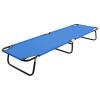 vidaXL kék összecsukható acél kempingágy