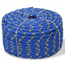 vidaXL kék polipropilén hajókötél 12 mm 250 m kábel és adapter