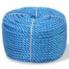 vidaXL kék polipropilén sodrott kötél 12 mm 250 m
