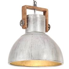 vidaXL kerek ezüstszínű ipari függőlámpa 25 W 40 cm E27 világítás
