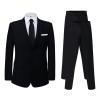 vidaXL Két darab fekete 46-s méretű férfi öltöny extra nadrággal