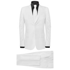 vidaXL két darabos férfi öltöny nyakkendővel méret 54 fehér