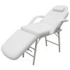 vidaXL Kezelőszék állítható háttámlával és lábtartóval -fehér