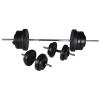 vidaXL Kézi súlyzó + 2 Súlyzó készlet 60, 5 kg