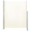 vidaXL krémszínű behúzható oldalsó terasz napellenző 160 x 300 cm