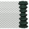 vidaXL Lánc drótkerítés 1 x 15 m Zöld