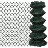 vidaXL Láncszem drótkerítés 0,8 x 25 m Zöld