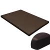 vidaXL Lapos négyzetes kutyaszőnyeg / kutyafekhely barna M