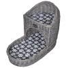 vidaXL Macskabútor / ágy kaparófa párnával lépcső alakú