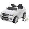 vidaXL Mercedes Benz ML350 elektromos kisautó távirányítóval 6 V fehér