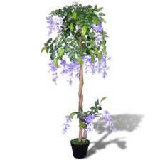 vidaXL Mesterséges Lila Akác Edény 120 cm fa és növény