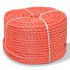 vidaXL narancssárga polipropilén sodrott kötél 14 mm 250 m