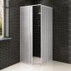 vidaXL Négyszögletű zuhanykabin alumínium kerettel és PP panelekkel 80x80 cm