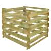 vidaXL Négyzet alakú fsc fa komposztáló láda 0,54 m3