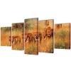vidaXL Nyomtatott vászon falikép szett oroszlánok 100 x 50 cm