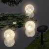 vidaXL Solar Bowl 3 LED Lebegő Labda Úszómedencéhez / kültéri lámpa
