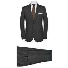 5a15b87a03 vidaXL sötétszürke kétrészes férfi vászon öltöny 50-es méret