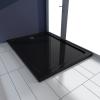 vidaXL Szögletes ABS zuhany alaptálcával 80 x 110 cm fekete