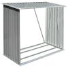 vidaXL szürke horganyzott acél kerti tűzifatároló, 163 x 83 x 154 cm