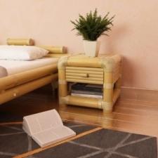 vidaXL Természetes bambusz éjjeliszekrény 45 x 45 x 40 cm bútor