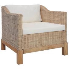 vidaXL természetes rattanfotel párnákkal bútor