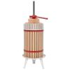 vidaXL tölgyfa bor- és gyümölcsprés szövetzsákkal 30 l