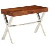 vidaXL tömör akácfa íróasztal rózsafa felülettel 110 x 50 x 76 cm