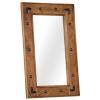vidaXL tömör akácfa keretű tükör 50 x 80 cm
