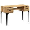 vidaXL tömör mangófa íróasztal 120 x 50 x 76 cm