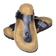 vidaXL Unisex bio parafa csatos szíjú szandál papucs tervezés méret 41 fekete férfi papucs
