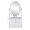 vidaXL Vanity Sminkasztal Állítható Álló tükör