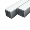 vidaXL vidaXL 2 rozsdamentes acél négyzetes zártszelvény V2A 25x25x1,9mm, 2 m