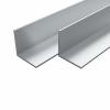 vidaXL vidaXL 4 db alumínium L-profil (szögidom) 15x15x2mm, 2 m
