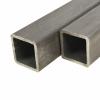 vidaXL vidaXL 6 db szerkezeti acél négyzetes zártszelvény 30x30x2mm, 2 m