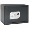 vidaXL vidaXL sötétszürke digitális széf ujjlenyomat-olvasóval 35x25x25 cm