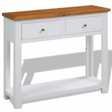 vidaXL vidaXL tölgyfa konzolasztal 83 x 30 x 73 cm bútor