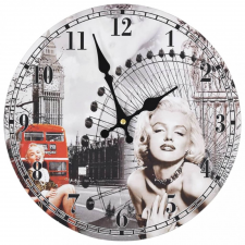 vidaXL vintage stílusú falióra Marilyn Monroe képével, 30 cm átmérőjű falióra