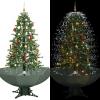 vidaXL zöld havazó karácsonyfa ernyő alakú talppal 170 cm