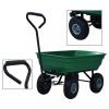 vidaXL Zöld kerti kézikocsi 300 kg 75 liter