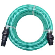 vidaXL zöld szívótömlő csatlakozókkal 7 m 22 mm öntözéstechnikai alkatrész