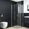 vidaXL zuhanykabin összecsukható ESG ajtókkal 75 x 75 x 185 cm