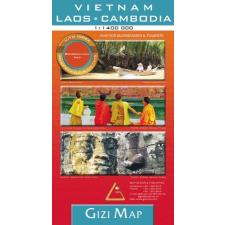 Vietnam, Laosz, Kambodzsa domborzati térkép - GiziMap térkép