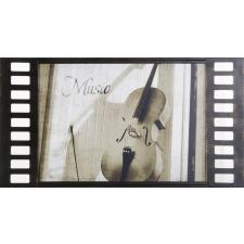 Violin aluminium kép Fekete / fehér 60 x 30 x 1 cm - HS92068 grafika, keretezett kép