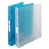 """VIQUEL Gyűrűs dosszié, 4 gyűrű, 35 mm, A4, maxi, PP, cserélhető címke, VIQUEL """"Propyglass"""", kék"""